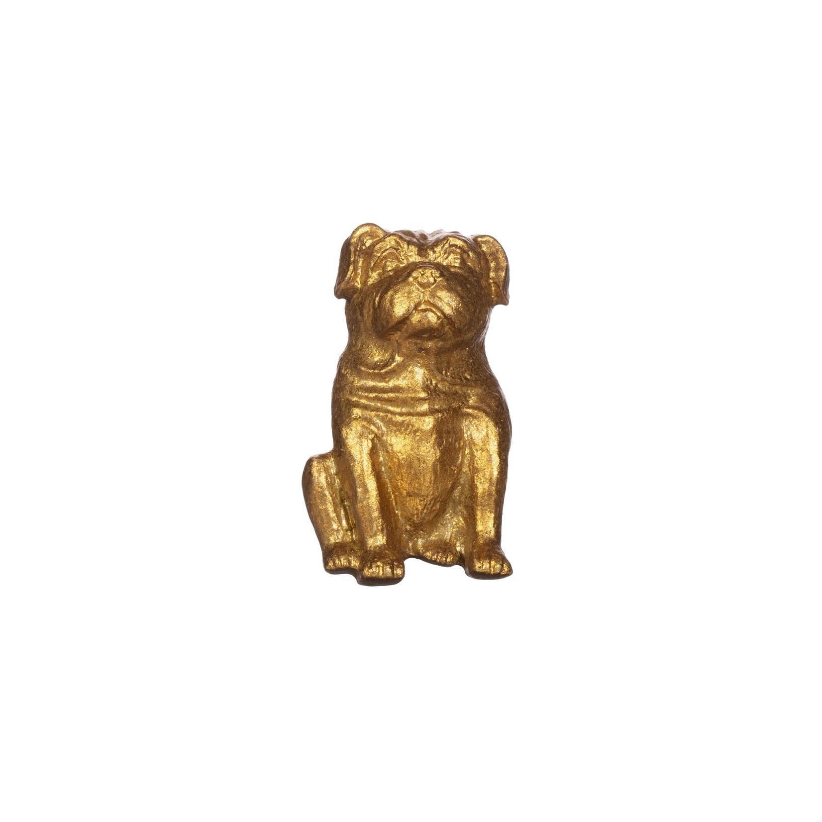 Sass and Belle Gold Pug Drawer Knob