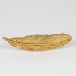 Sass and Belle Golden Feather Vintage Drawer gold Handle
