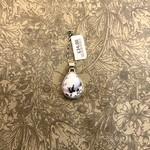 Maharaja Arts Palace Dendritic Agate Large Teardrop Pendant - Sterling Silver