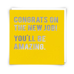 Redback Cards New Job - You'll be Amazing Card