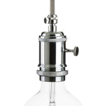 CCIT Chrome Lampholder with dial switch and cable Grip E27