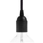 CCIT Black Thermoplastic E27 smooth lamp holder