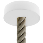 CCIT White painted wooden ceiling rose kit for 3XL electrical cord complete with accessories