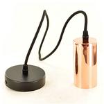 Amber Bright XL Copper Pendant E40 Fitting