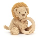 Jellycat Jellycat Fuddlewuddle Lion Wooden Ring Toy Rattle