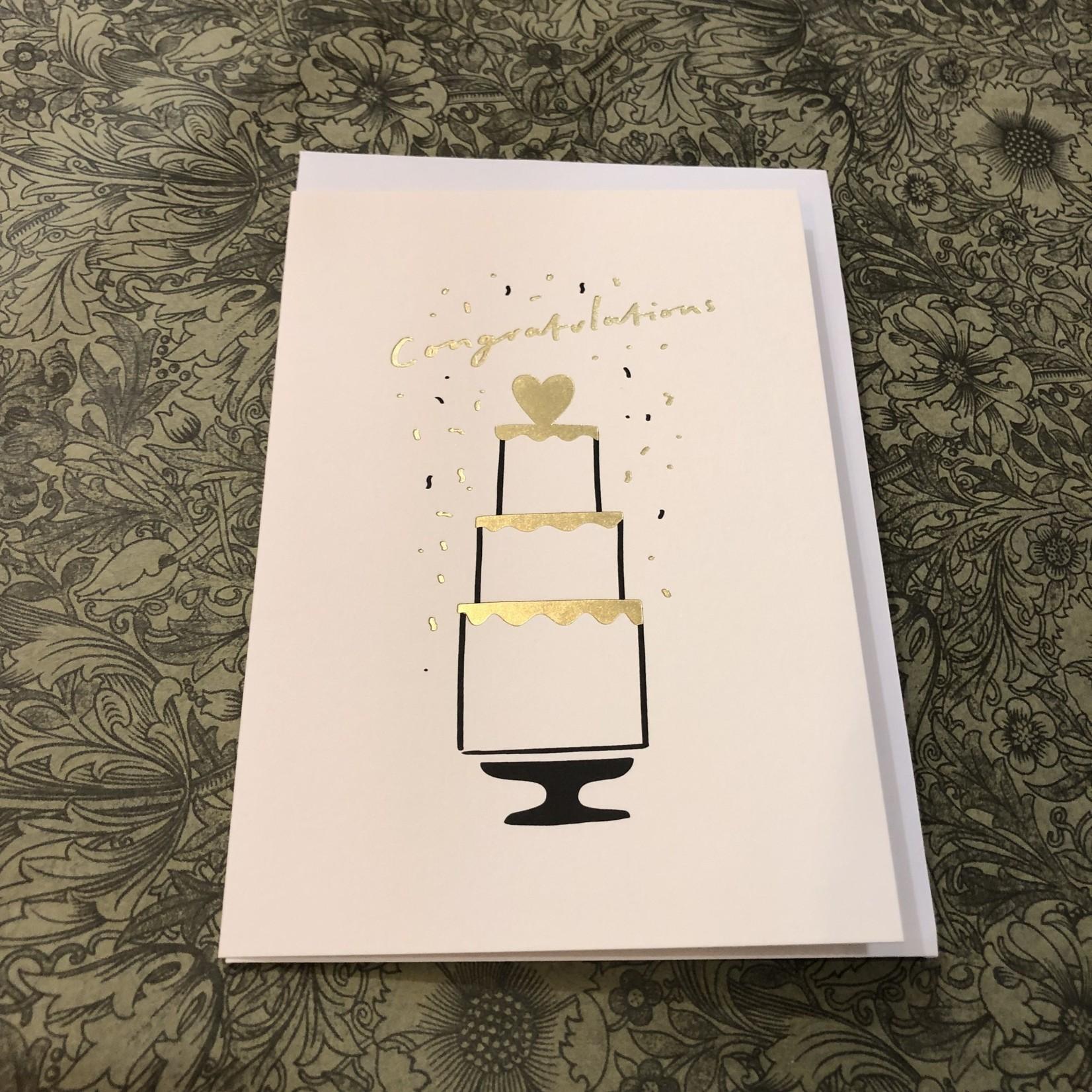 OLD ENGLISH CO. Congrats Wedding Cake Card