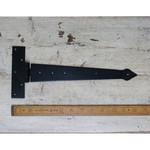 """IRON RANGE BLACK Tee Hinge Hand Forged Spearhead 12"""""""