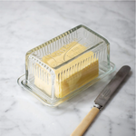 GT Glass Vintage Style Louella Butter Dish