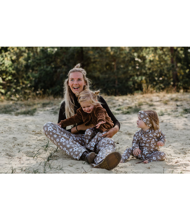 Mommy Flared | Flowers Taupe