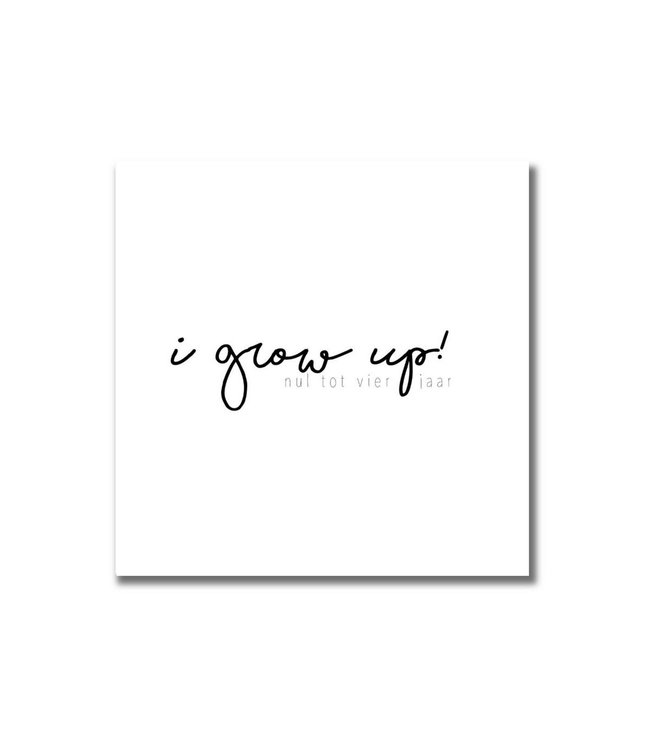 Nul - Vier jaar invulboek | I grow up