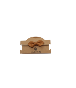 Toutesorte Bow Haarband | Cognac Scales