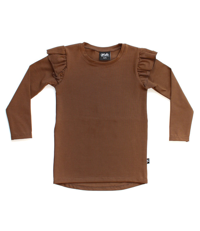 By Kels Ruffle Tee | Basic Brown