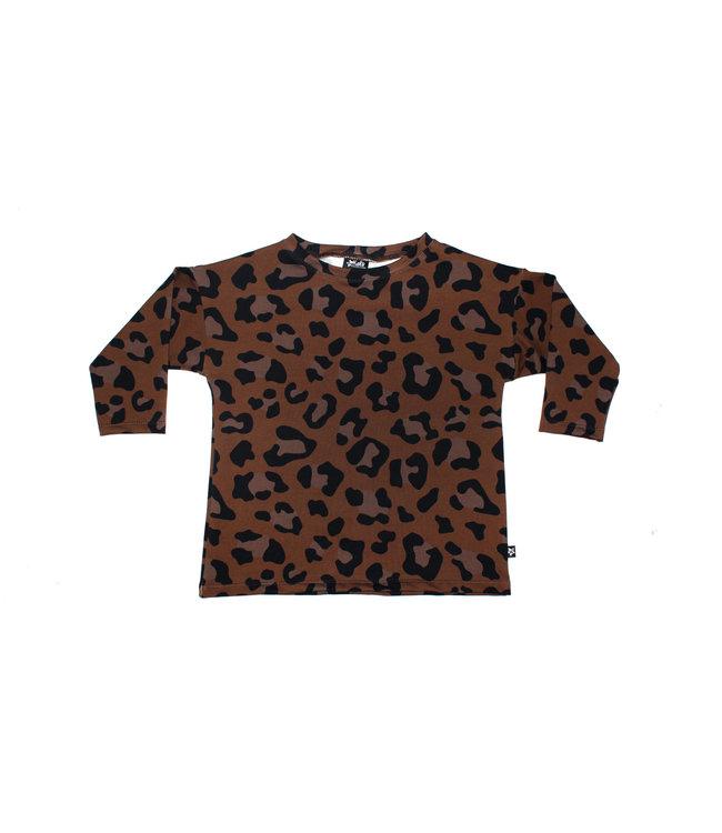 Oversized Tee   Leopard Brown