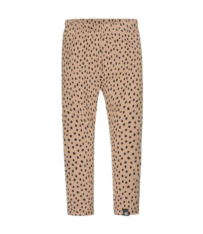 Legging | Rib Camel Dots