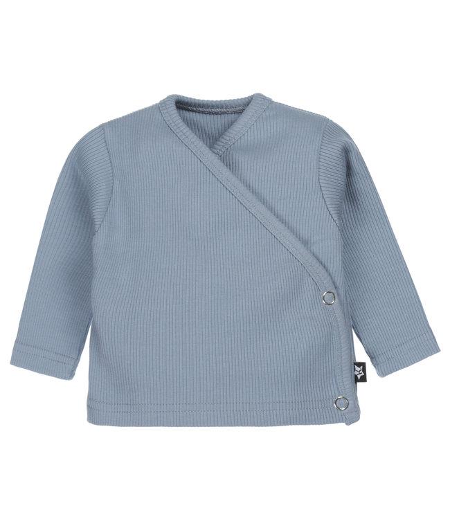 Overslagvestje | Rib Jeans Blue