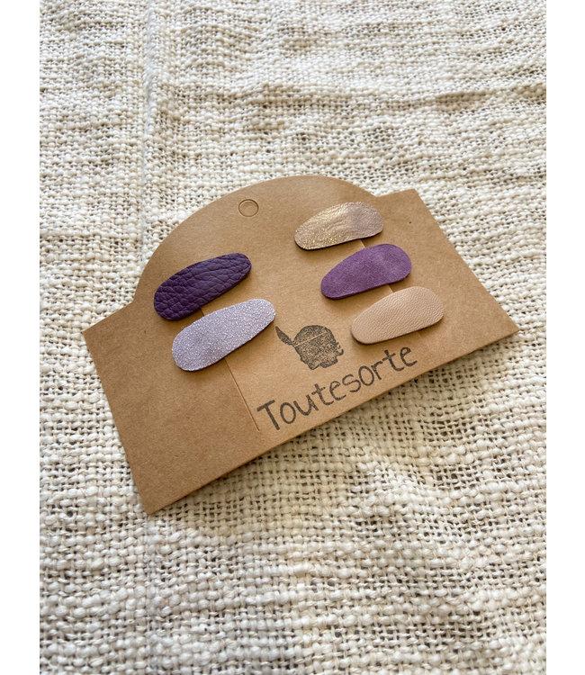 Set van 5 Haarclipjes | Purple