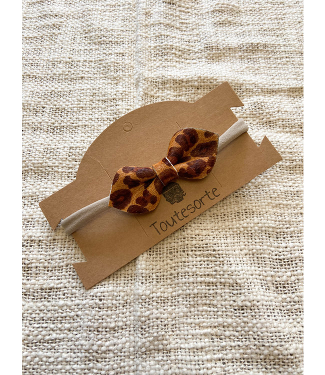 Bow Leopard Small | Brown