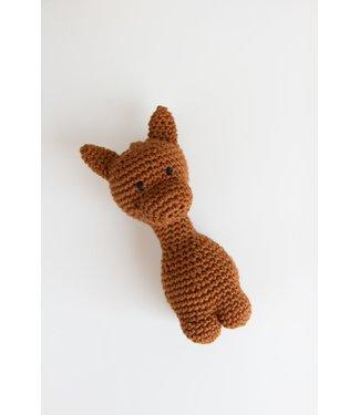 Softie Babymusthaves Rammelaar Giraf | bruin