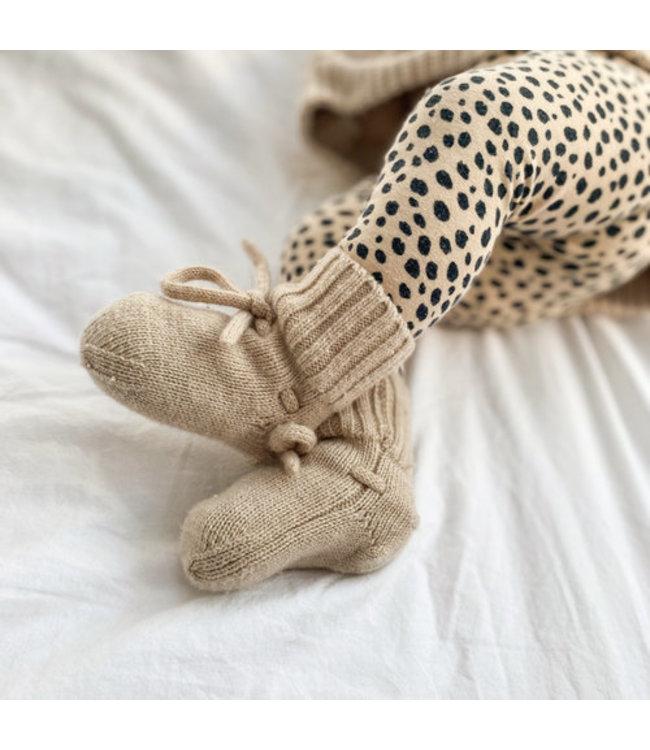 Merino wol booties | Sand