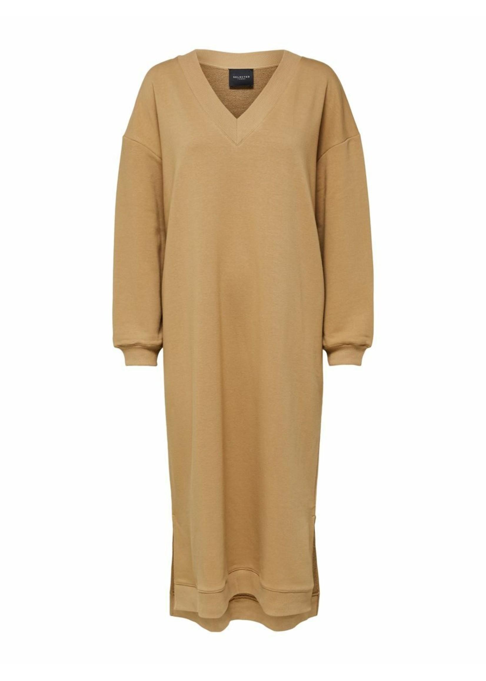 HAZEL LS LONG SWEAT DRESS EX