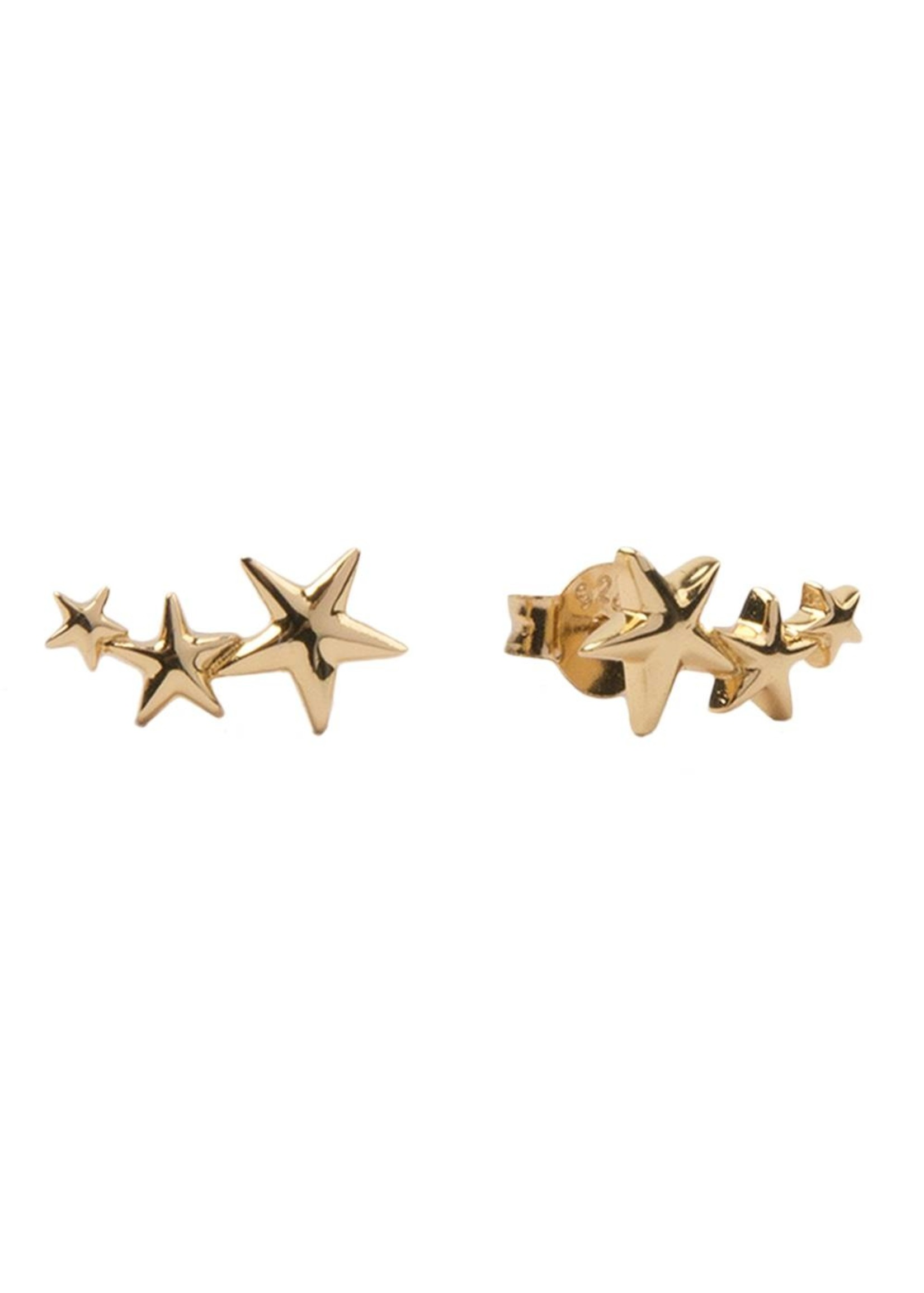 All The Luck In The World PARADE EARRINGS THREE STARS BIG GOLD
