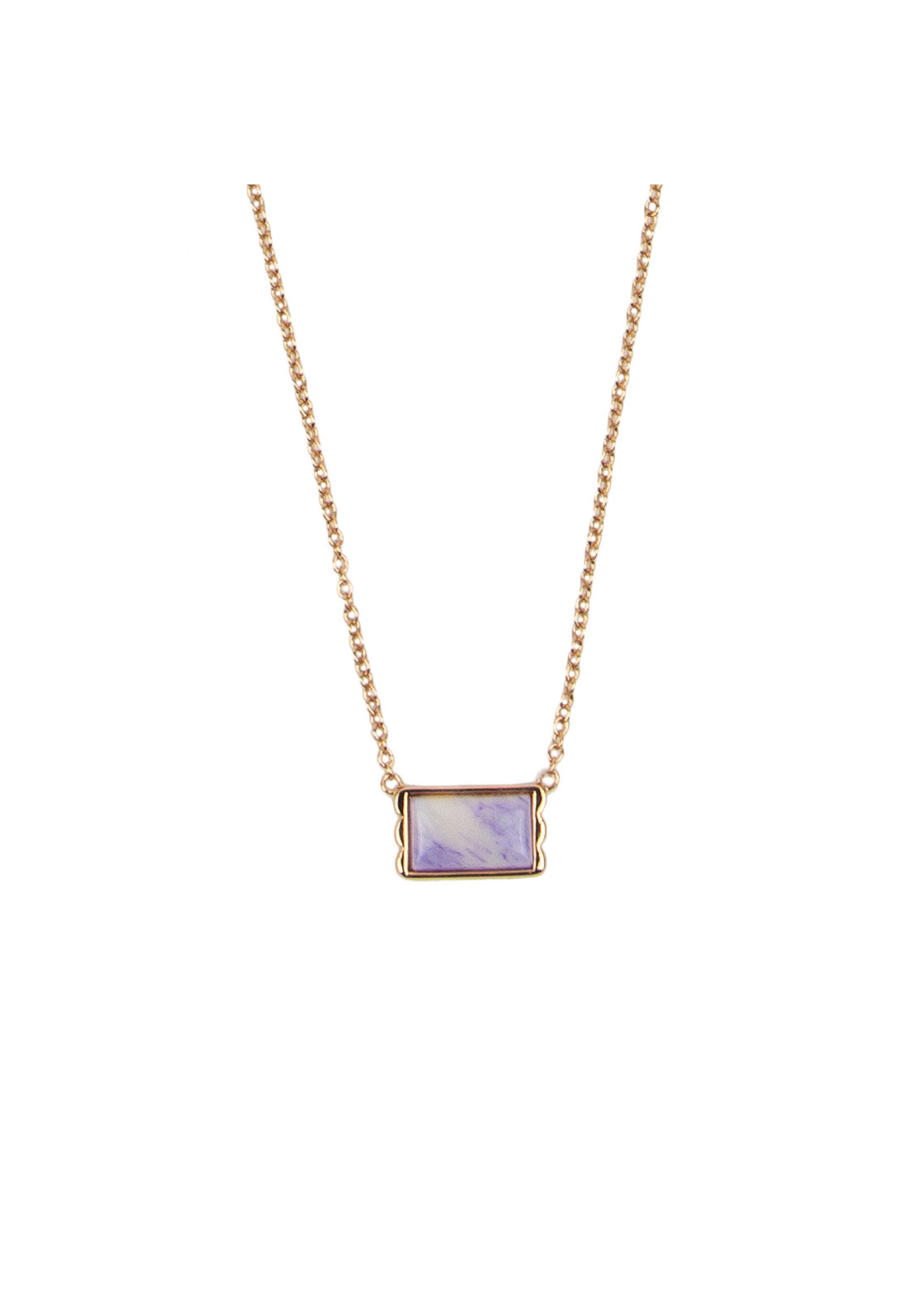 All The Luck In The World AMOUR RECTANGLE MARBLE LILAC