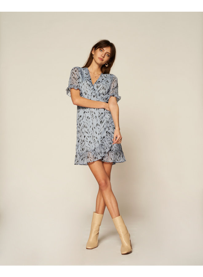 ROSY FADED BLUE DRESS