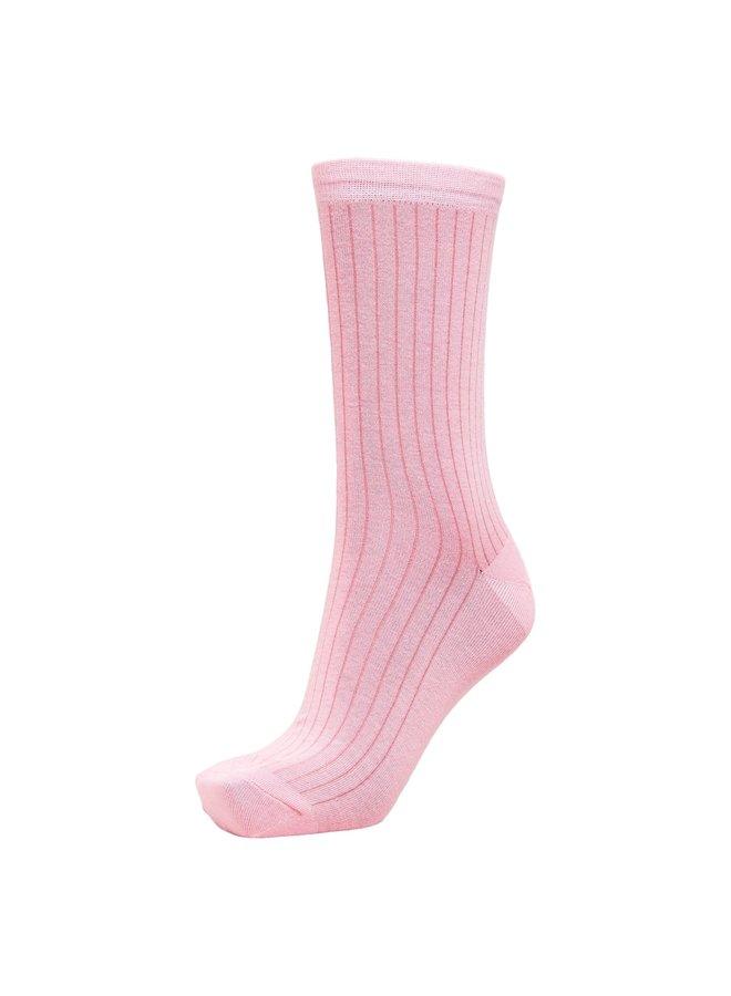 BOBBY RIB SOCK Prism Pink