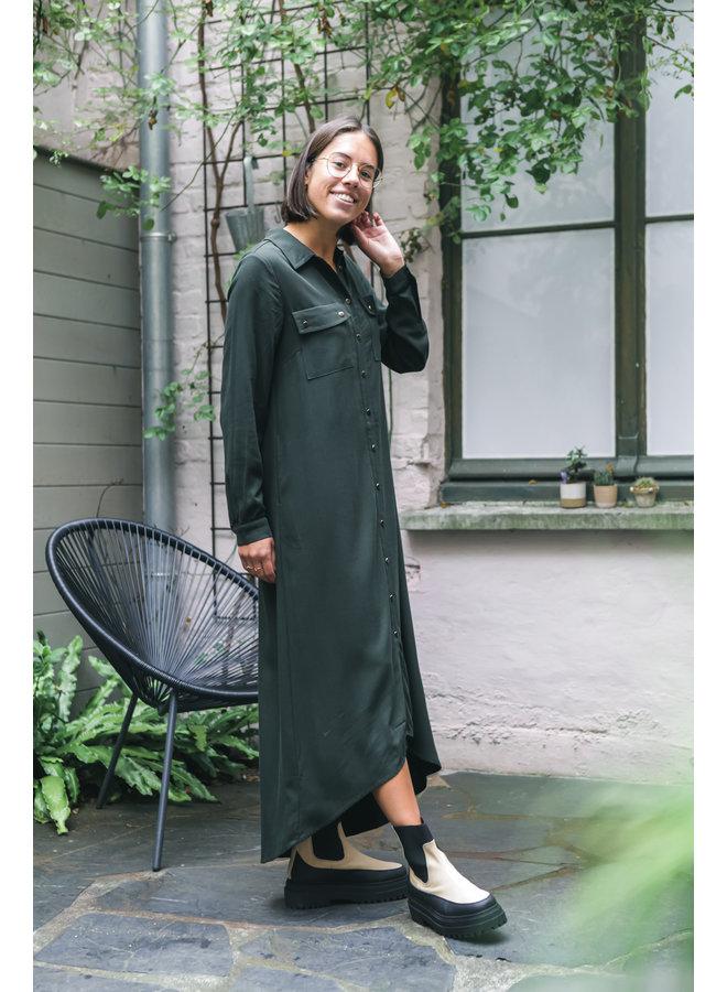 LONG SHIRT DRESS LYOCELL