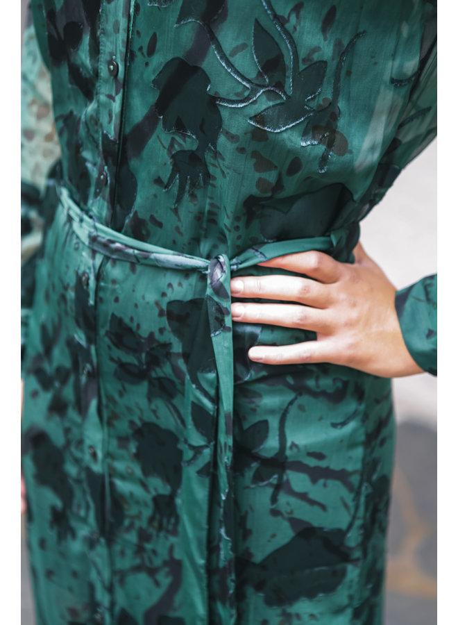 HARPER DARK GREEN DRESS