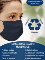 Gloves In A Bottle Bamboe Mondkapje Herbruikbaar, Uitwasbaar ACTIE: 2+1 gratis