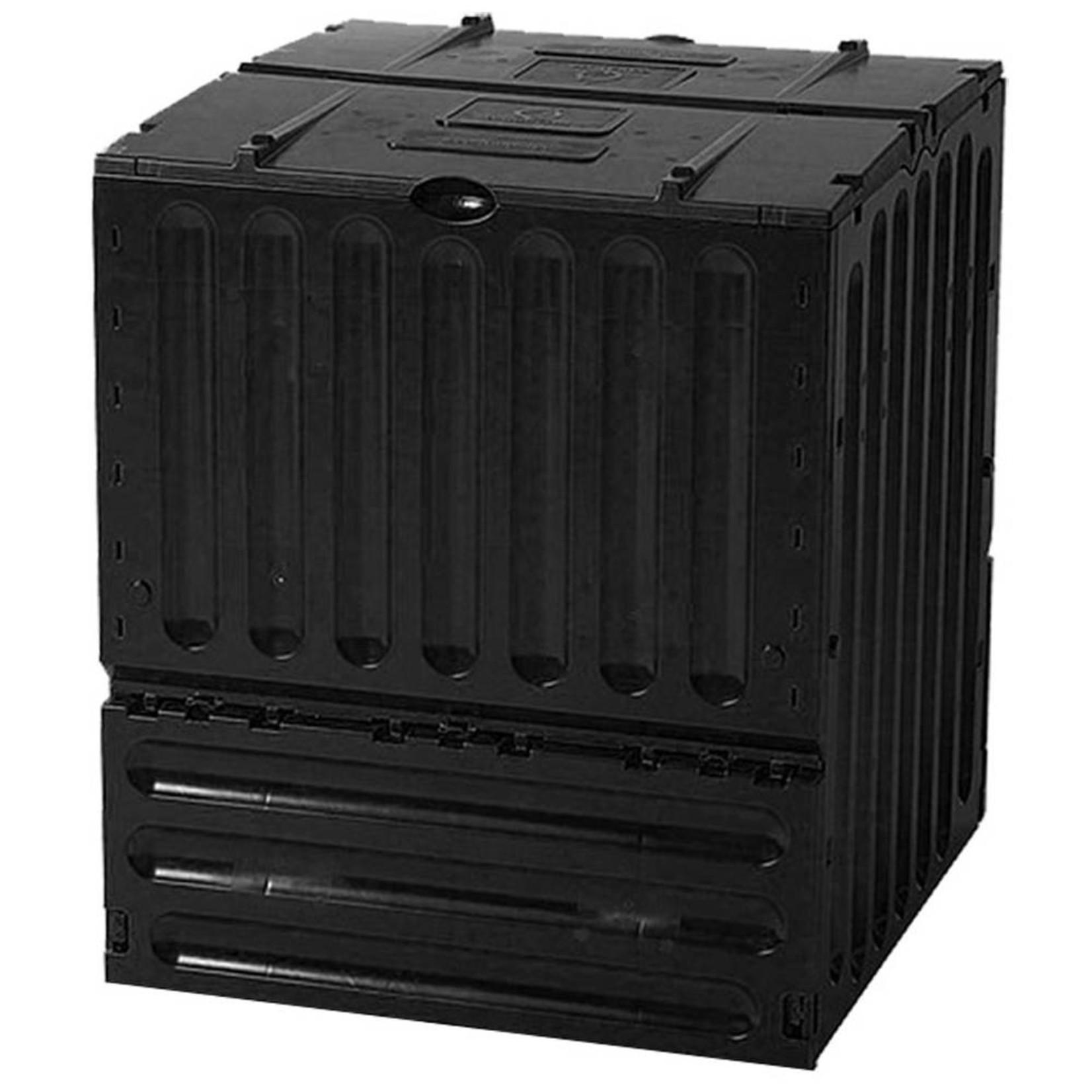 Meuwissen Agro Compostvat Eco-king 600 liter zwart l.80 x b.80 x h.95 cm