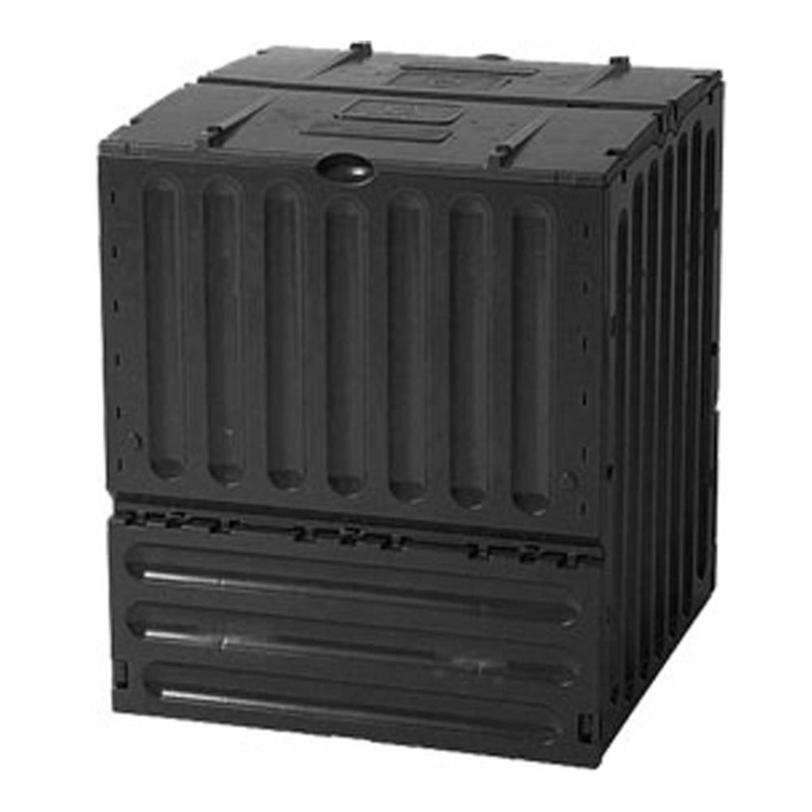 Meuwissen Agro Compostvat Eco-king 400 liter zwart l.70 x b.70 x h.83 cm