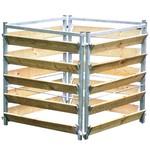 Meuwissen Agro Compostbak hout/metaal 100 x 100 x 100 cm