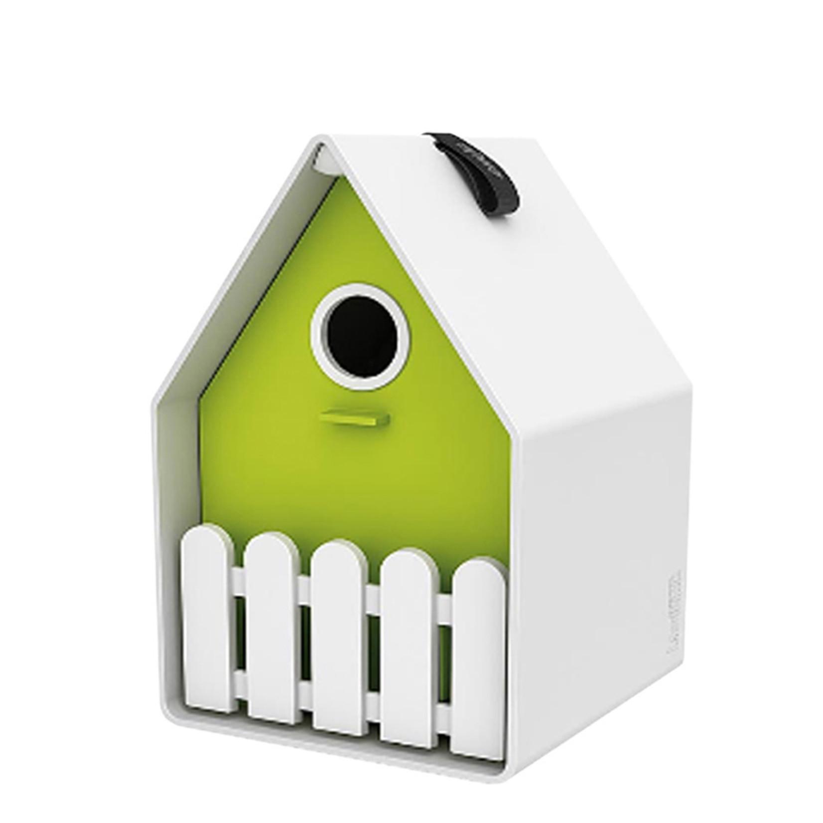 Emsa Landhaus bird house wit/lime