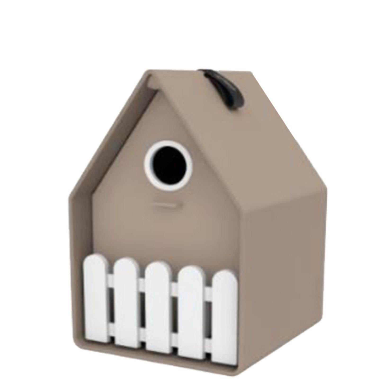 Emsa Landhaus bird house grijs