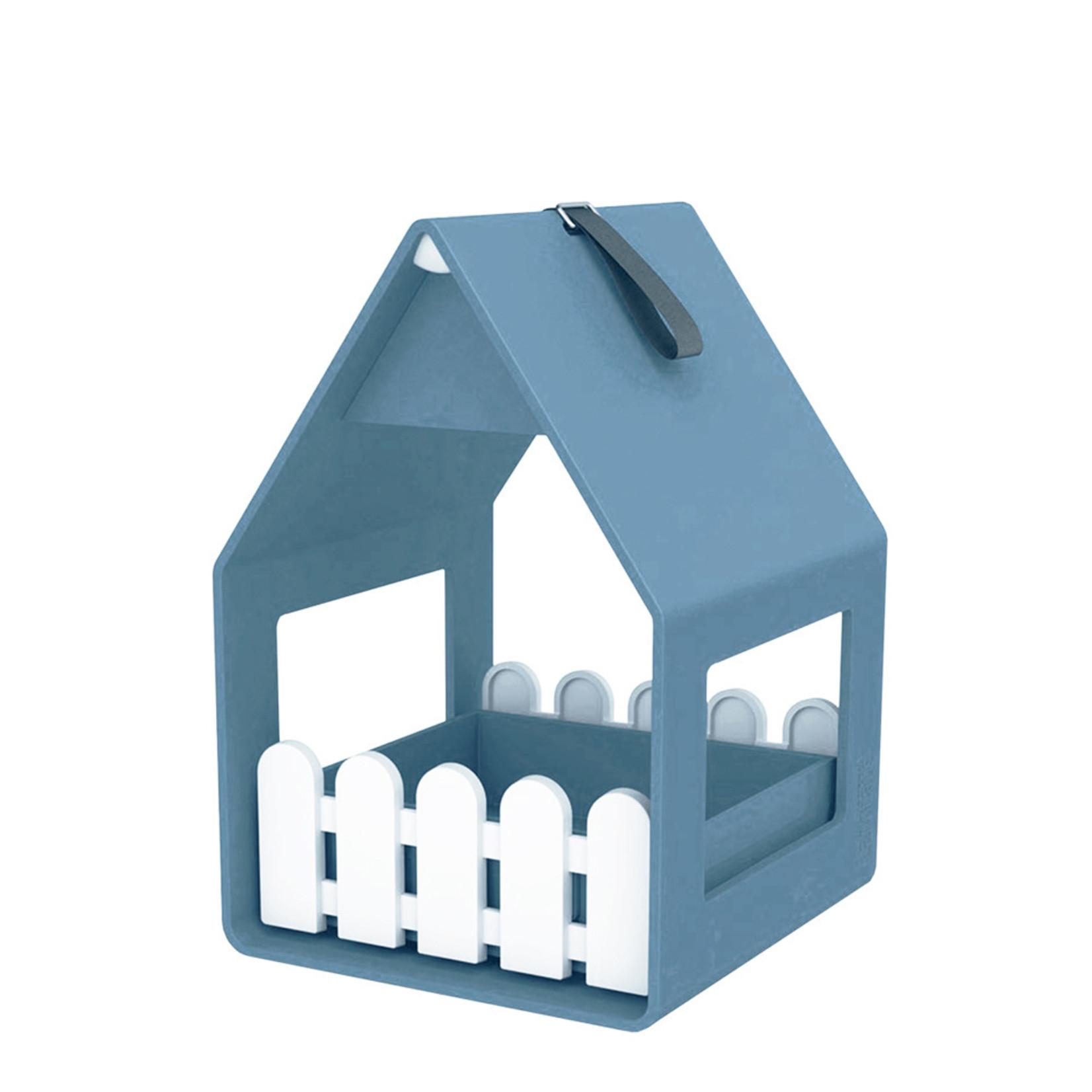 Emsa Landhaus bird feeder grijsblauw