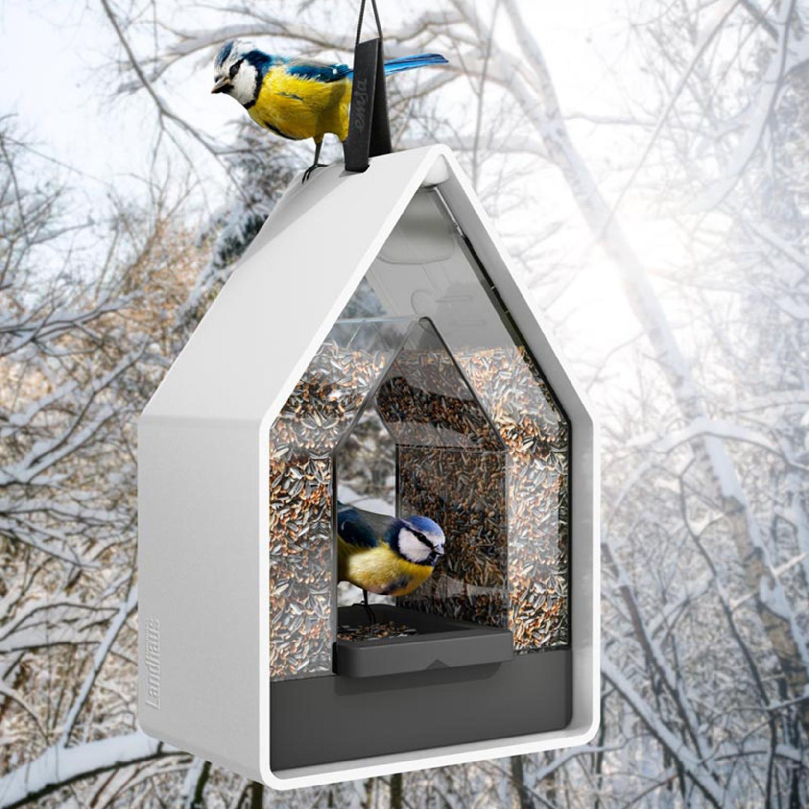 Emsa Landhaus bird feed dispencer wit