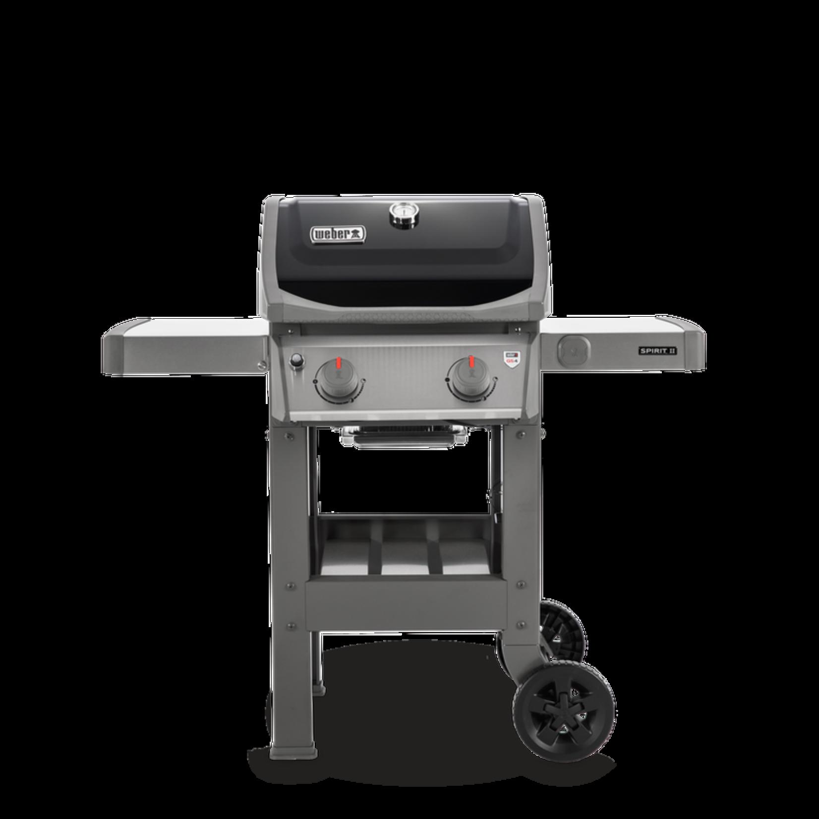 Weber Weber Spirit II E-210 GBS gasbarbecue zwart. Grilloppervlakte 51x46cm