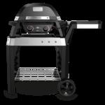 Weber Pulse 2000 elektrische barbecue met onderstel zwart.