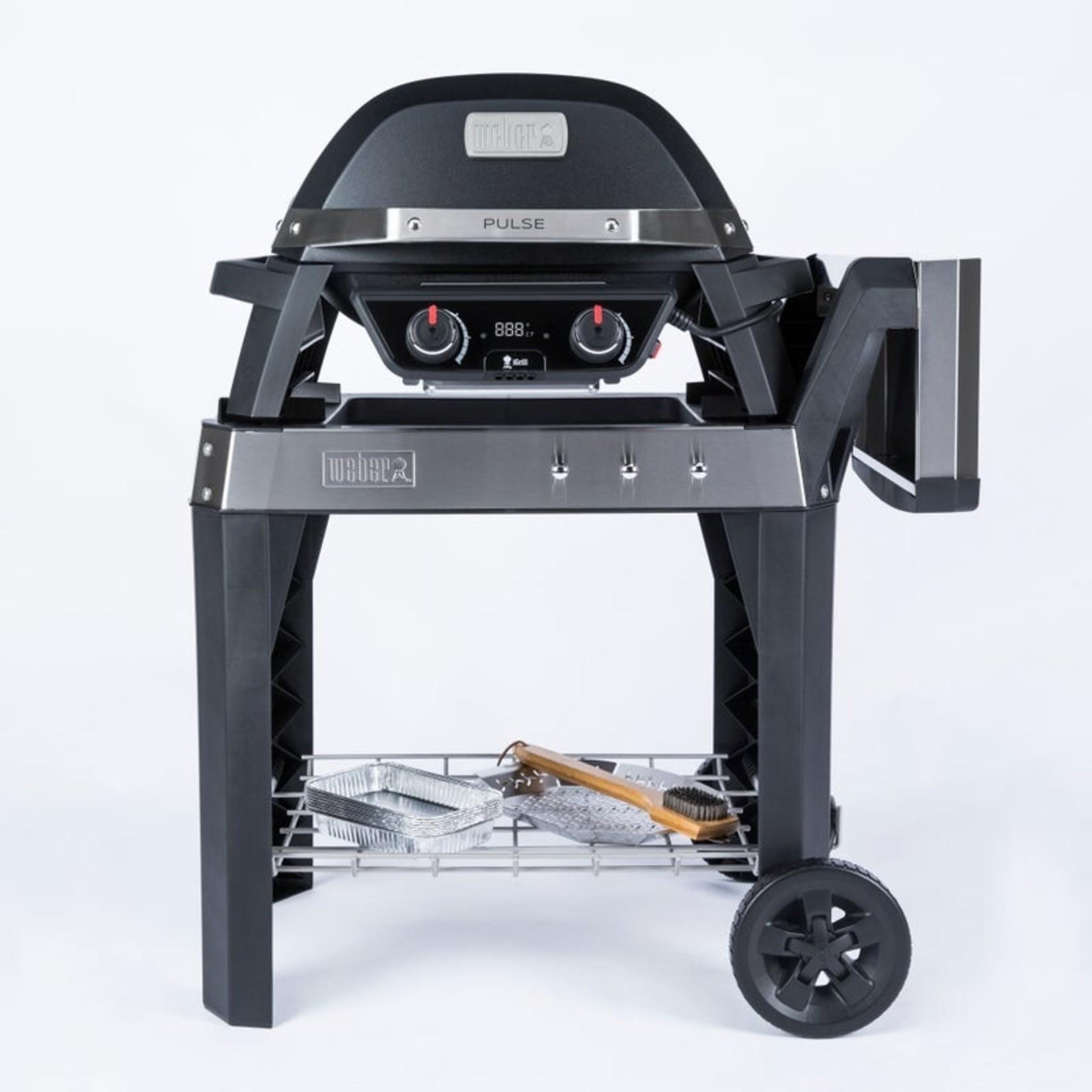 Weber Pulse 2000 elektrische barbecue met onderstel zwart. Grilloppervlakte 49x39cm