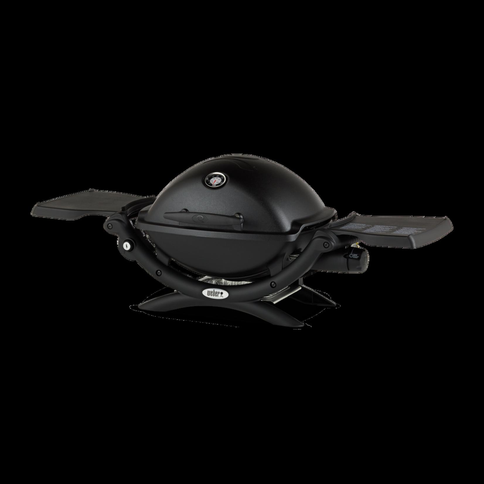 Weber Weber® Q 1200 gasbarbecue zwart. Grilloppervlakte 42x32cm. Draagbaar