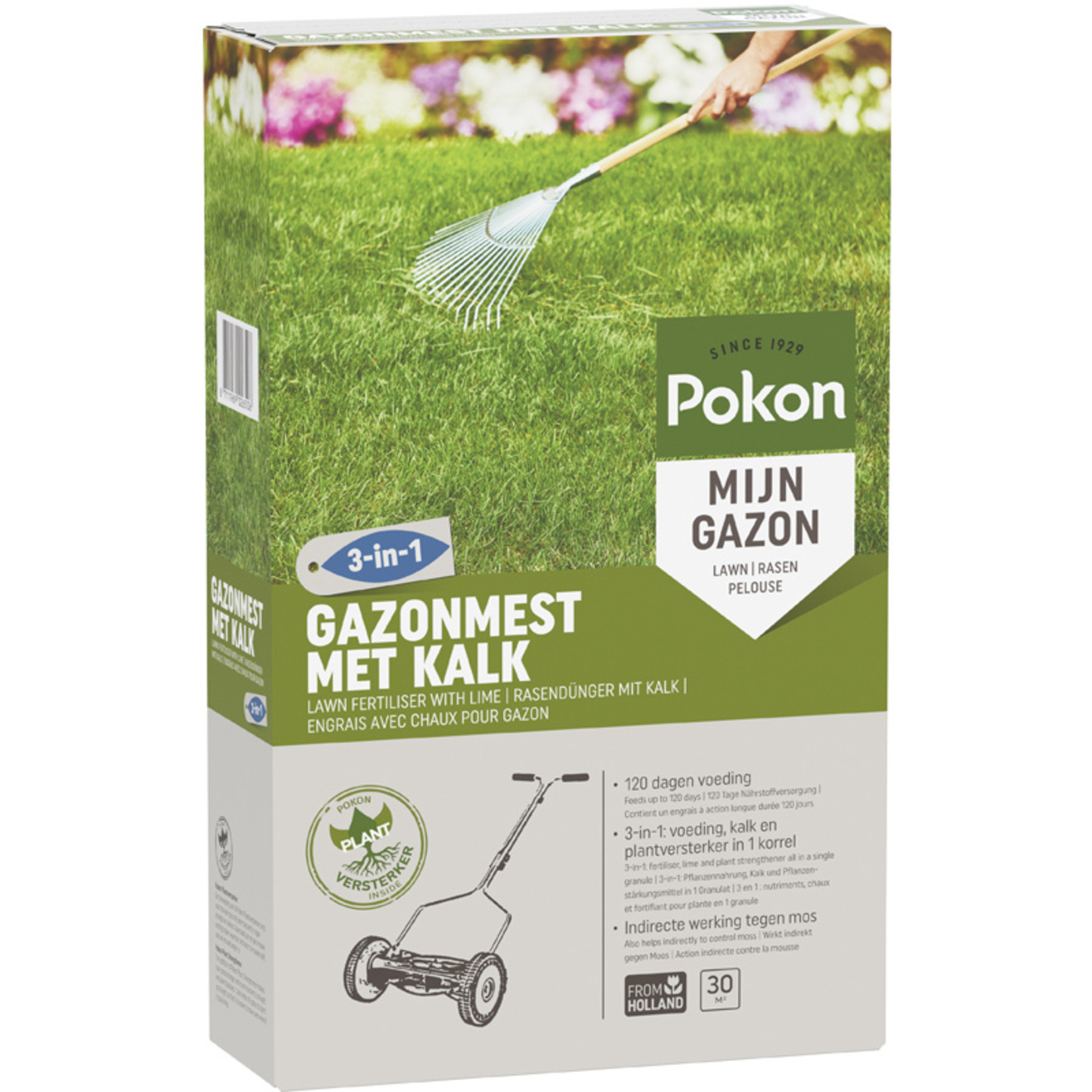 Pokon Gazonm + kalk 3-in-1 30m2