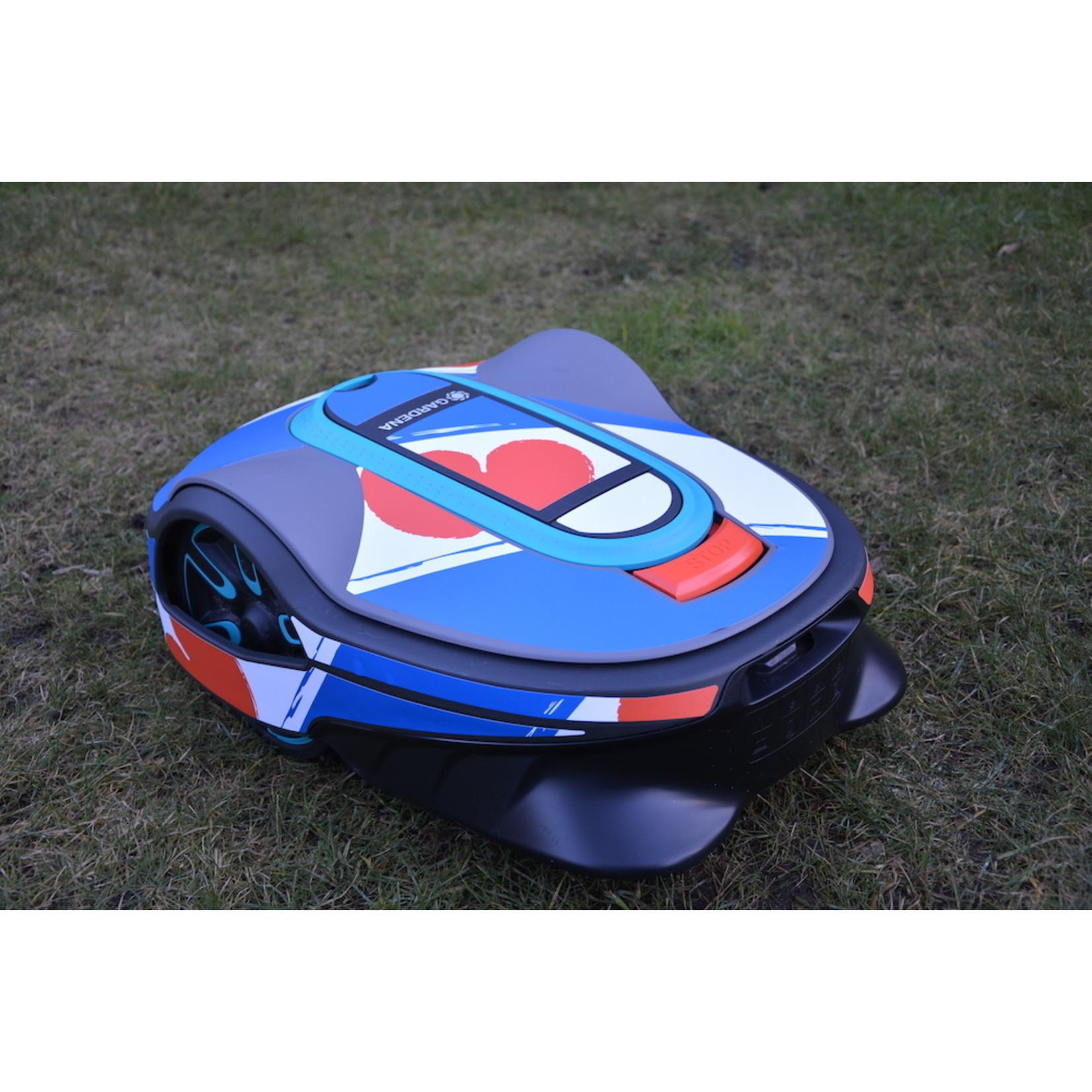 Twinckels Twinckels robotmaaier stickerset (Gardena Sileno) - Friese Vlag