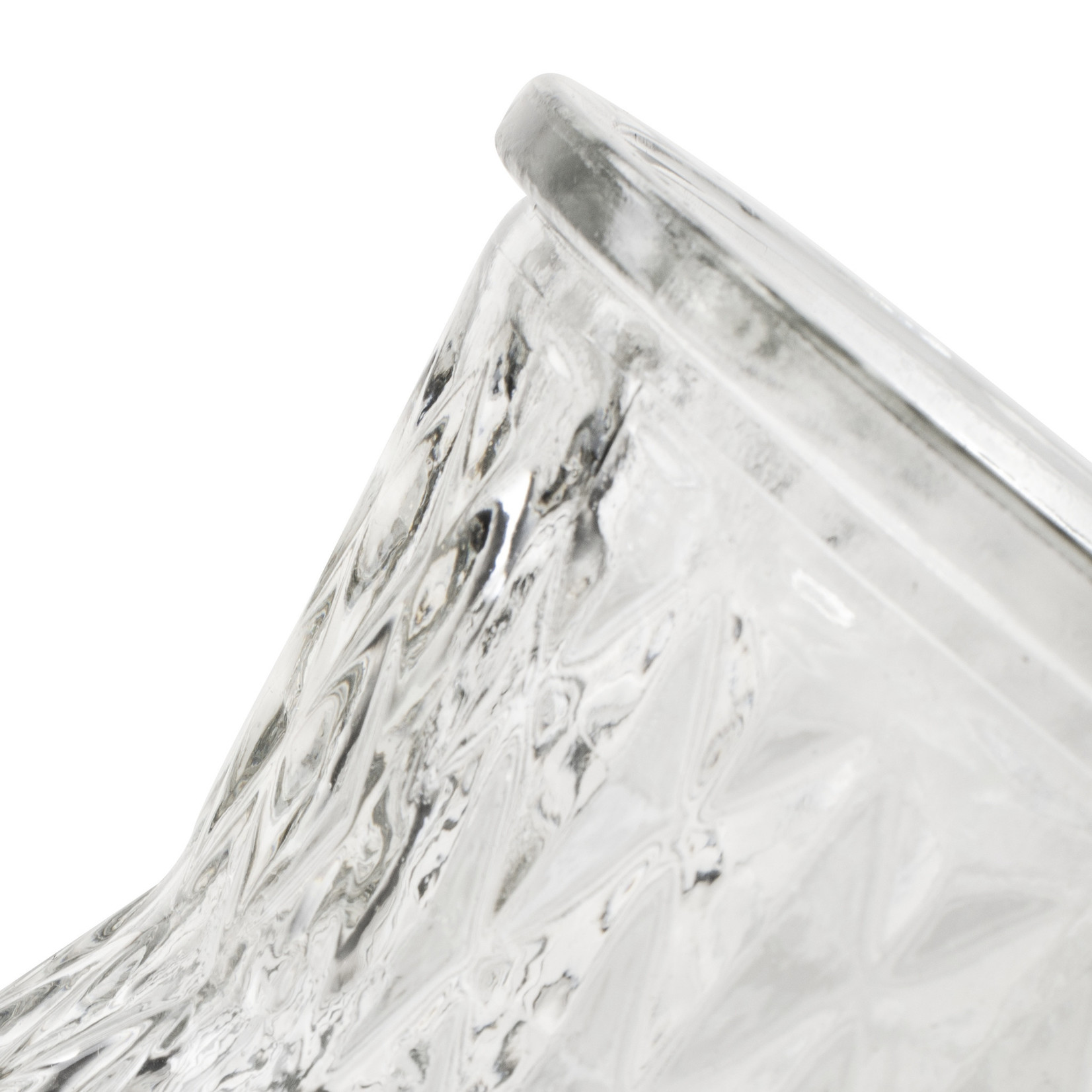 Jodeco Glass Glazen vaas 'Fabian' H25 D13,5 cm Transparant