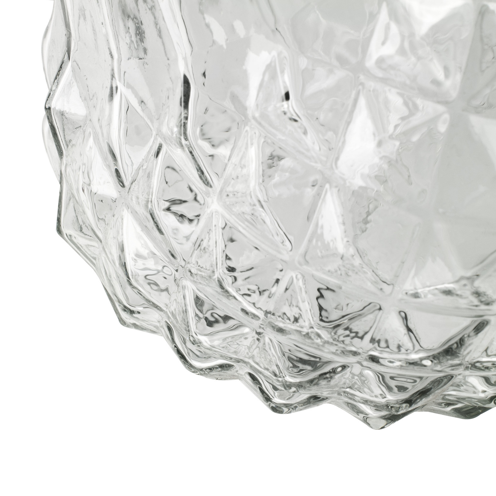 Jodeco Glass Glazen vaas 'Vivian' H18 D17,5 cm Transparant