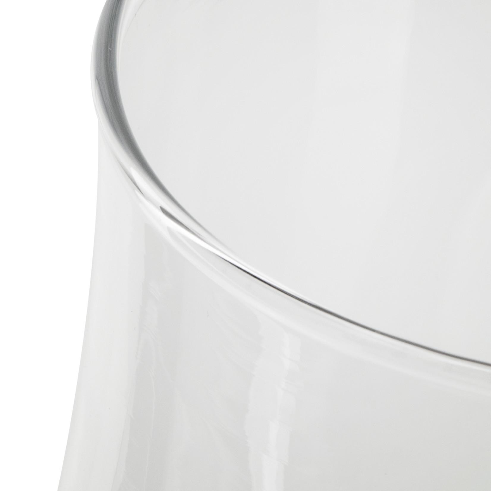 Jodeco Glass Vaas 'Femke' H21 D19 cm Transparant