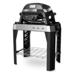 Weber Pulse 1000 elektrische barbecue met onderstel zwart.