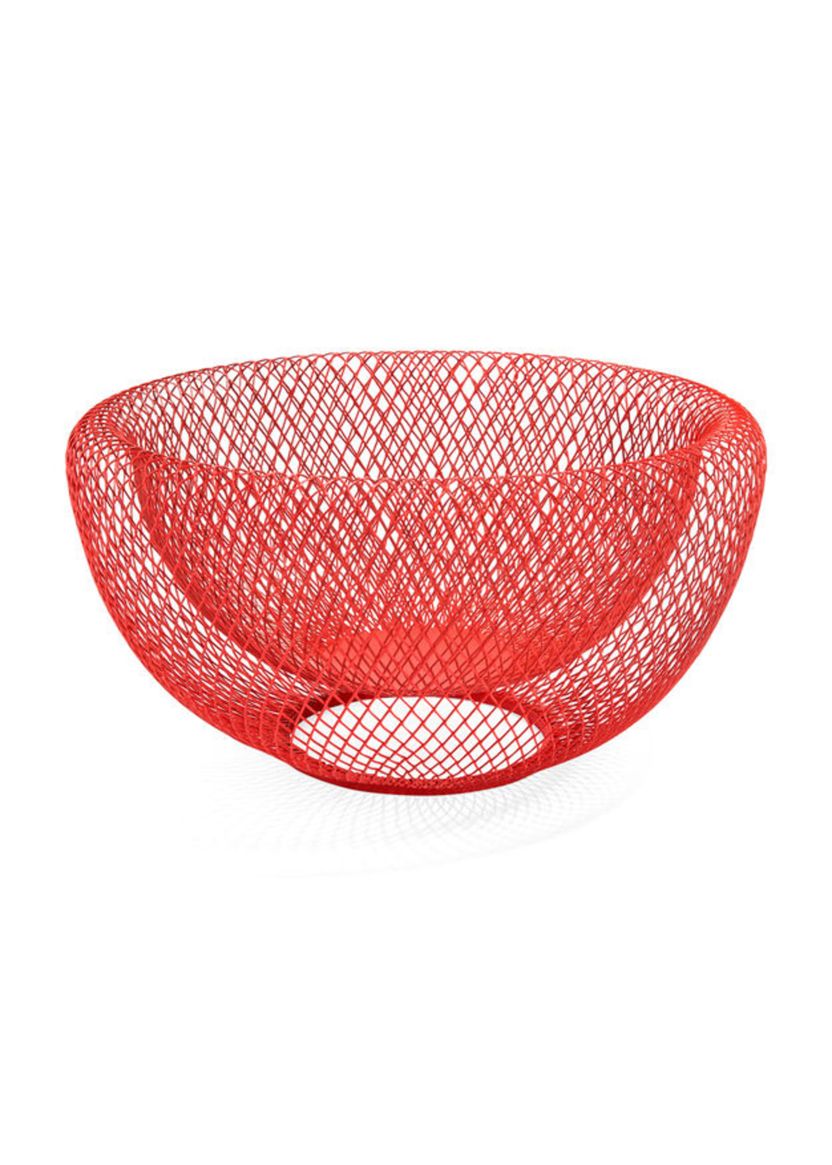Wire bowl MoMA red