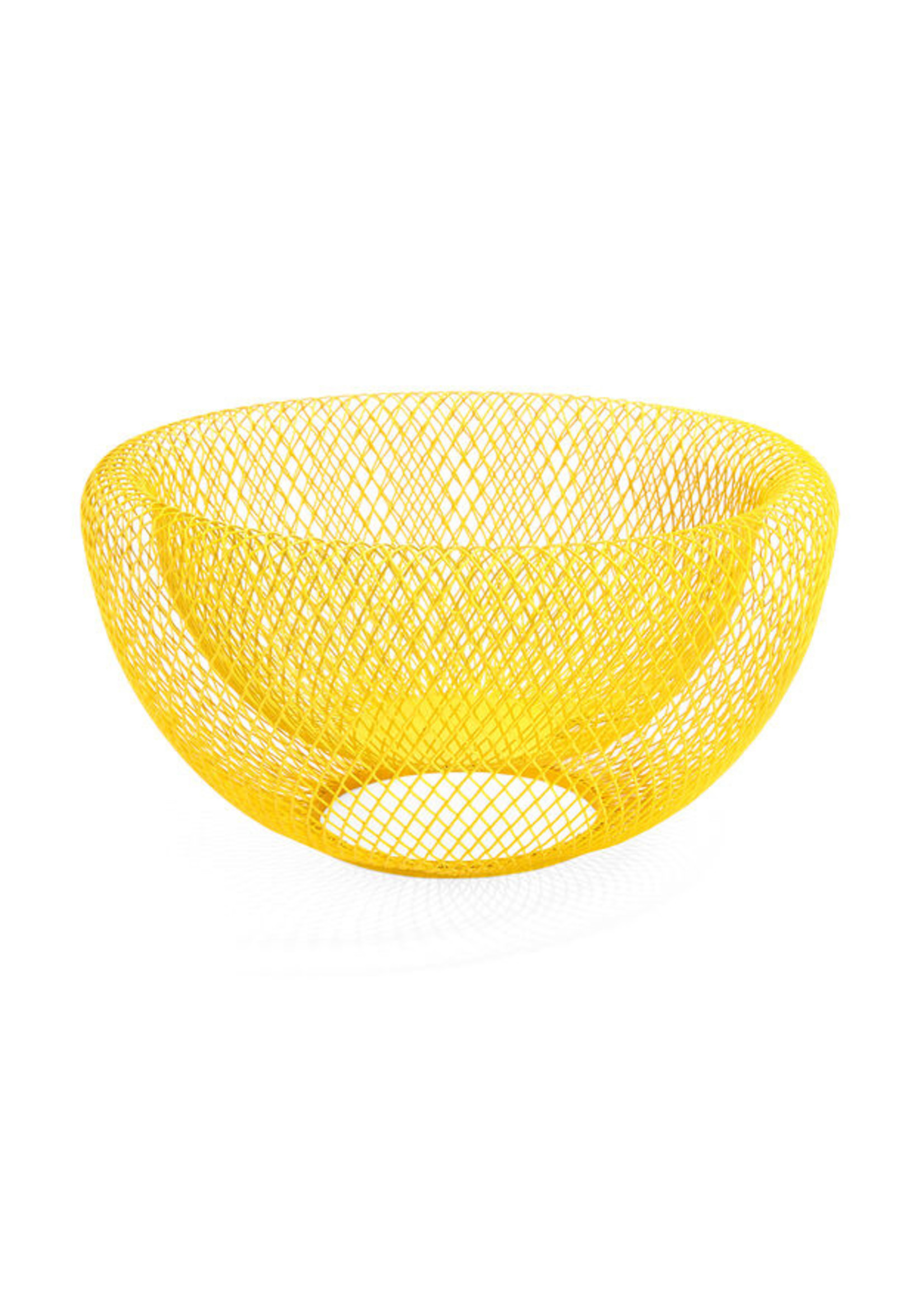Wire bowl MoMA yellow